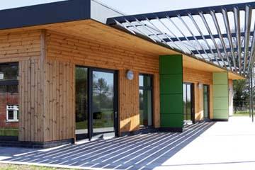 Portable classroom buildings